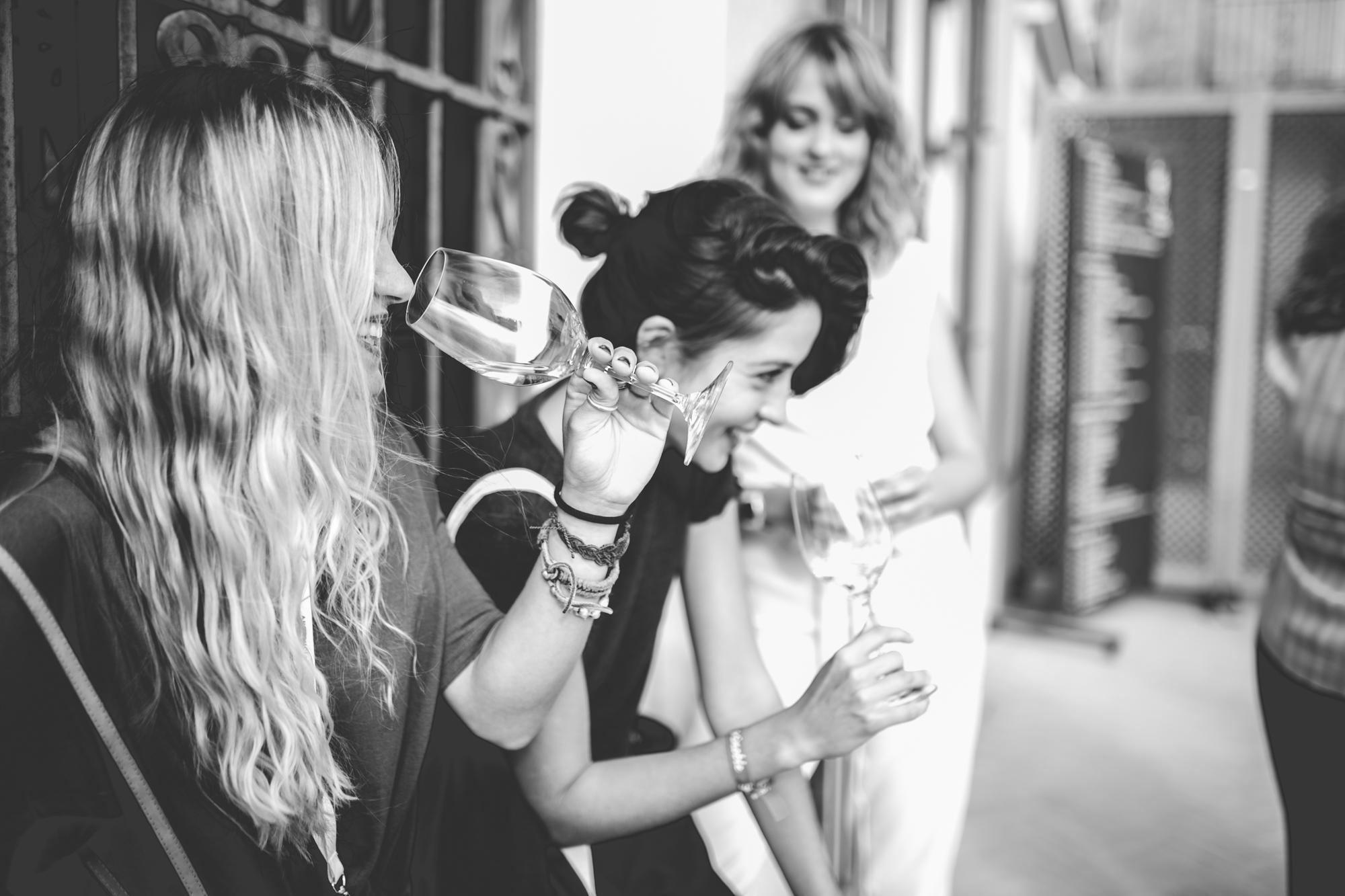 Girls with Wine mood shot